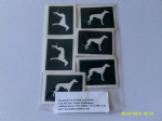 10 - 100 x Greyhound / Whippet dog mixed stencils for etching on glass